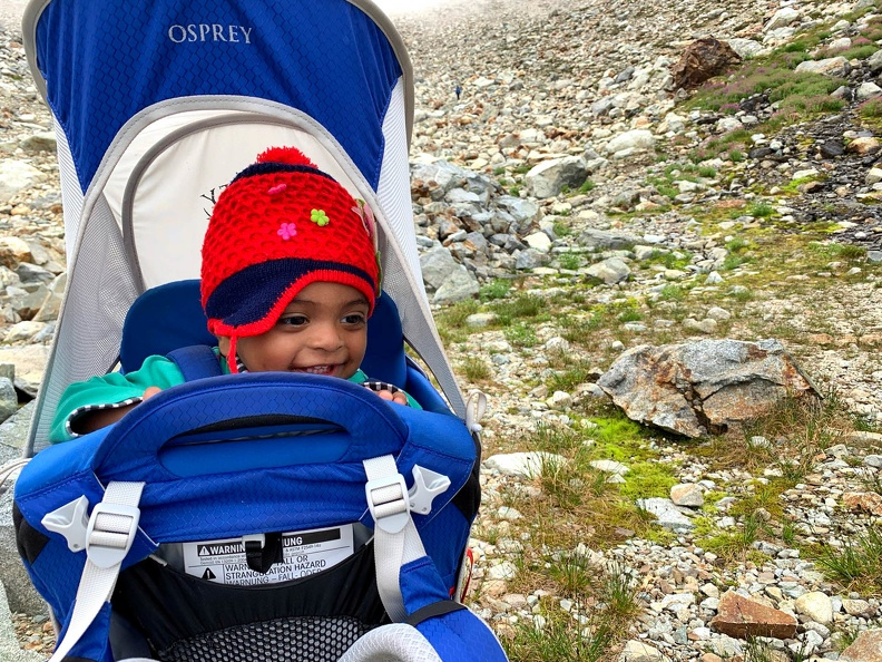 Agastya enjoying his time out in the mountains